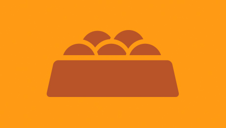 Orange nutrition icon